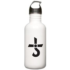 CROSS OF KRONOS (MARS CROSS) Black Water Bottle