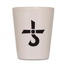 CROSS OF KRONOS (MARS CROSS) Black Shot Glass