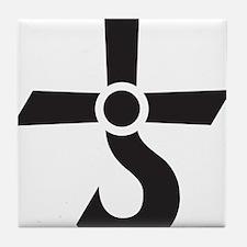 CROSS OF KRONOS (MARS CROSS) Black Tile Coaster