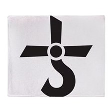 CROSS OF KRONOS (MARS CROSS) Black Throw Blanket