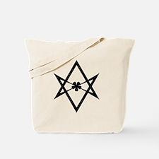 Unicursal hexagram (Black) Tote Bag