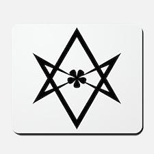 Unicursal hexagram (Black) Mousepad
