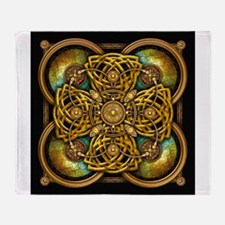Yellow Celtic Tapestry Throw Blanket