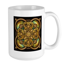 Yellow Celtic Tapestry Mug
