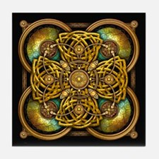 Yellow Celtic Tapestry Tile Coaster