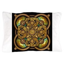 Yellow Celtic Tapestry Pillow Case