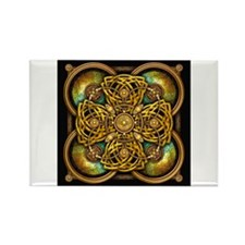 Yellow Celtic Tapestry Rectangle Magnet
