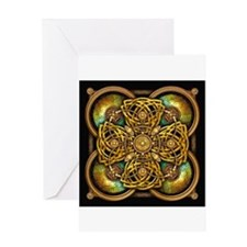 Yellow Celtic Tapestry Greeting Card