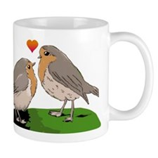 Robin red breast bird love Mug