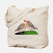 Robin red breast bird love Tote Bag