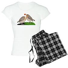 Robin red breast bird love Pajamas