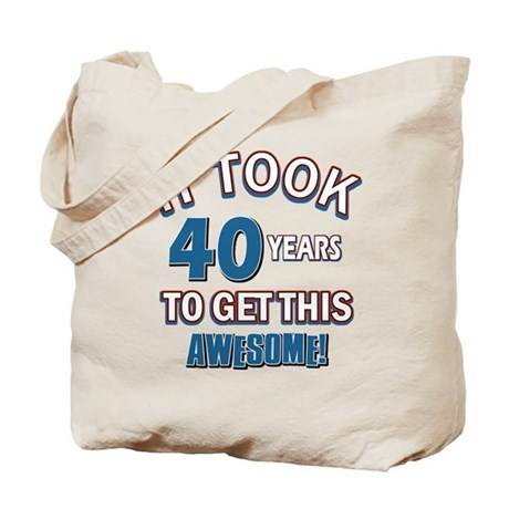 Awesome 40 year old birthday design Tote Bag