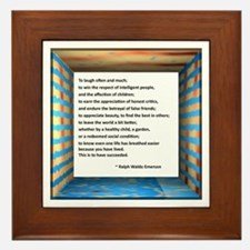 The Nature of Success Framed Tile