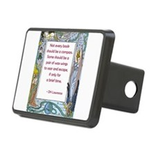 Books as a Pair of Wings Rectangular Hitch Cover