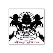 "Pancreatic Cancer Posse Square Sticker 3"" x 3"""