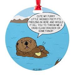 Mad Sea Otter Ornament