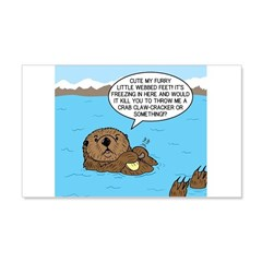 Mad Sea Otter Wall Decal