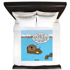 Mad Sea Otter King Duvet