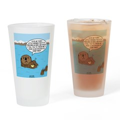 Mad Sea Otter Drinking Glass