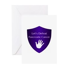 Lets Defeat Pancreatic Cancer Greeting Card