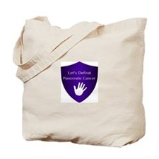 Lets Defeat Pancreatic Cancer Tote Bag
