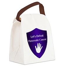 Lets Defeat Pancreatic Cancer Canvas Lunch Bag