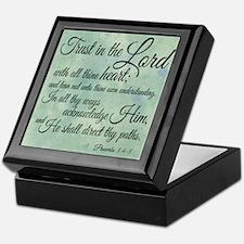 Trust in the Lord Keepsake Box