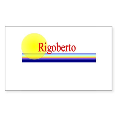 Rigoberto Rectangle Sticker