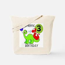 Dinosaur 3rd Birthday Tote Bag