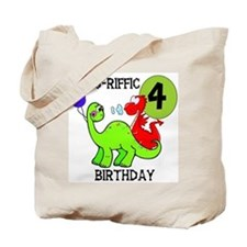 Dinosaur 4th Birthday Tote Bag