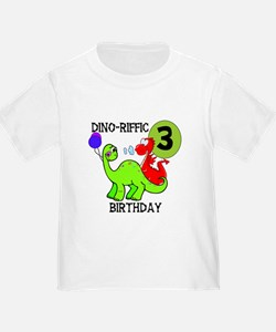 Dinosaur 3rd Birthday T