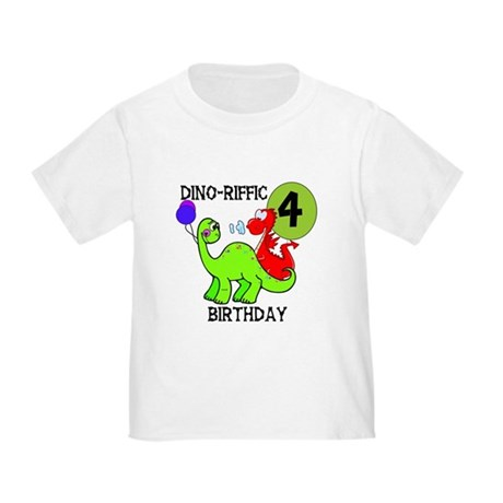 Dinosaur 4th Birthday Toddler T-Shirt
