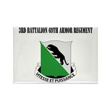 DUI - 3rd Bn, 69th Armor Regiment with text Rectan