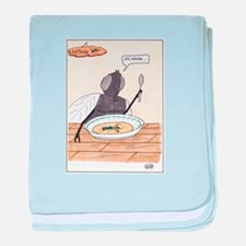 Man in the Soup baby blanket