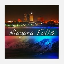 Niagara Falls Button Tile Coaster