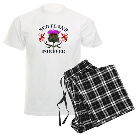Scotland Forever Thistle Men's Light Pajamas