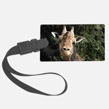Helaine's Smiling Giraffe Luggage Tag
