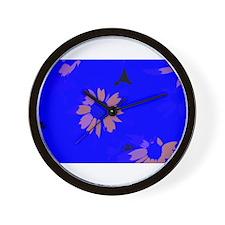 Glowing Petals Wall Clock