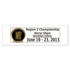 Region 2 Championship Horse Show Bumper Bumper Sticker