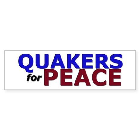 Quakers for Peace Sticker (Bumper)