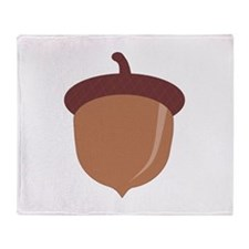 Cute Cartoon Autumn Acorn Throw Blanket
