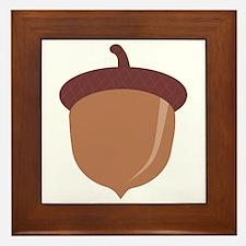 Cute Cartoon Autumn Acorn Framed Tile