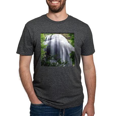 Silver Falls clock.png Mens Tri-blend T-Shirt