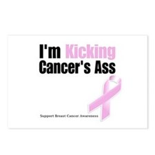 Kicking Breast Cancers Ass Postcards (Package of 8