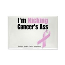 Kicking Breast Cancers Ass Rectangle Magnet