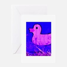 pink ducky Greeting Card