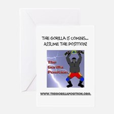 The Gorilla Is Coming... Greeting Card