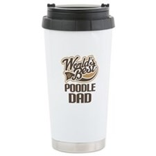 Poodle Dad Dog Gift Ceramic Travel Mug