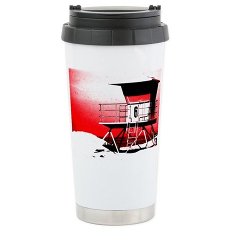 lifeguard tower Stainless Steel Travel Mug