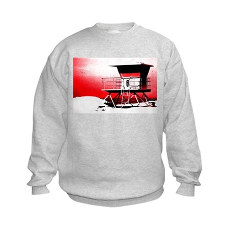 lifeguard tower Kids Sweatshirt